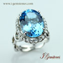 Blue Topaz Ring (Sterling Silver)