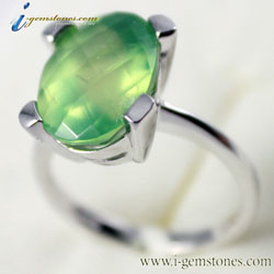 Prehnite Ring (925 Sterling Silver)
