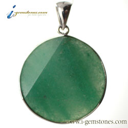 Faceted Star of David Green Aventurine Pendant