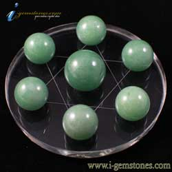 7 Aventurine Spheres - Star of David